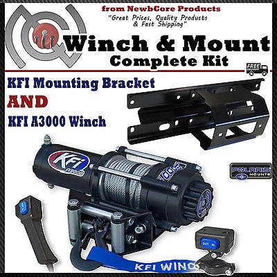KFI 3000 lb Winch Combo for 2005-2010 Polaris Sportsman, X2, Touring (100440)