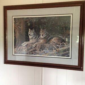 beautiful wolf painting