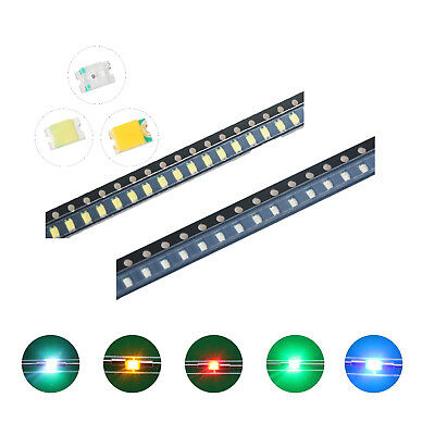 100pcs 5colors 08052012 Smd Smt Led Diodes White Red Blue Mix Kit Lamp Lights