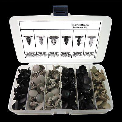 177 Auto Body Clip Fender Bumper Shield Retainer Assortment Kit Push In Fastener
