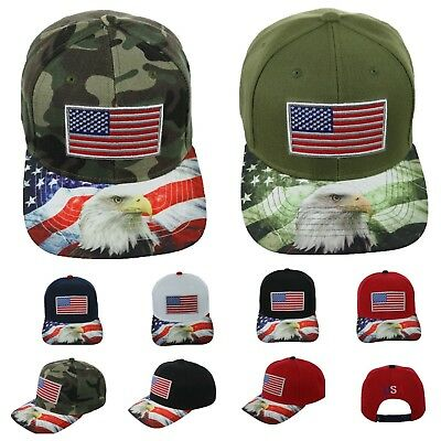 US Flag Baseball Cap America American USA Eagle Hat Casual Caps Snapback Hats ()