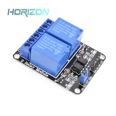 5v Two 2 Channel Relay Module With Optocoupler For Pic Avr Dsp Arm Arduino New