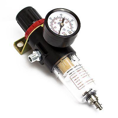 """AWM Airbrush Kompressor 1/4"""" 1/8"""" Wasserabscheider Druckregler Filter, AM-2000"""