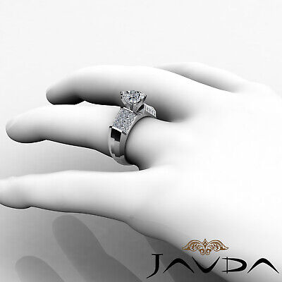 4 Prong Invisible Set Heart Cut Diamond Engagement Ring GIA I VS2 Clarity 2.2Ct 3