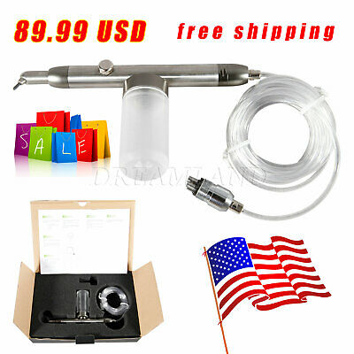Dental Aluminum Oxide Gun Alumina Air Abrasion System Sandblasting Gun 4 Holes