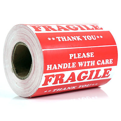 500 Pieces 3 X 5 Handle With Care Fragile Label Sticker Self Adhesive Warning