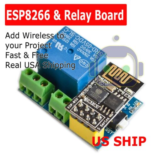 ESP8266 ESP-01S + 5V WiFi Relay Module Smart Home Remote Control Unlock Set