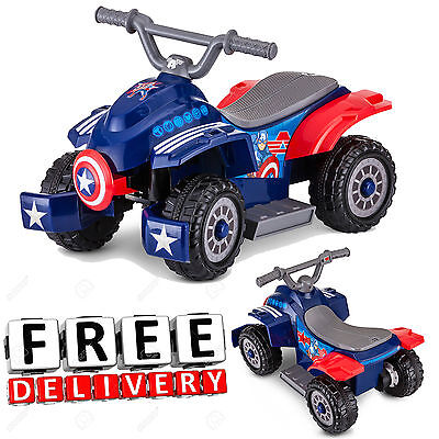 Battery Powered Ride On Toy Car For 6V Electric Kids Fun Toddler Quad Vehicle