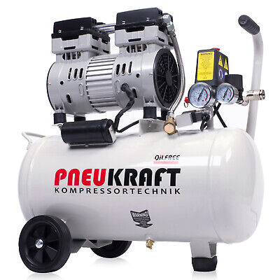 Air Compressor 24L Pneukraft Low Noise Oil Free Compressor 750W Silent 65dB