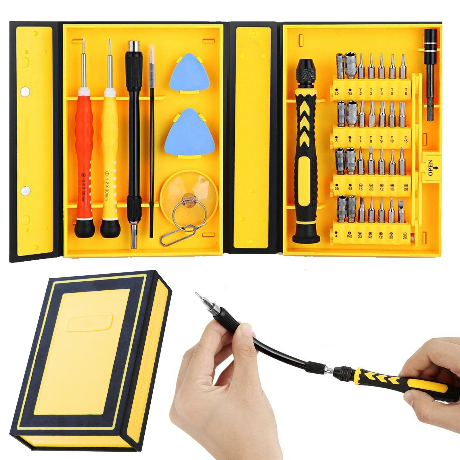 38 in 1 Mobile Phone Screen Opening Repair Tools Kit Screwdriver Set for iPhone Cell Phone & Smartphone Parts