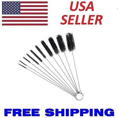 10X Nylon Cleaning Brush Set Test Tube Bottle Straw Washing Cleaner Bristle Kit