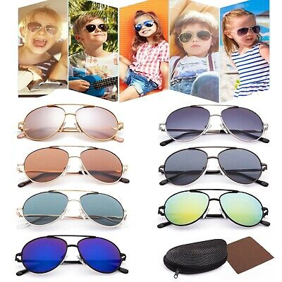 Vintage Aviator Sunglasses For Boy Girls Kid Child Toddler Baby Driving Case