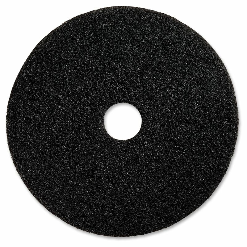 "Genuine Joe 20"" Black Floor Stripping Pad - (5 PerCarton) Black"