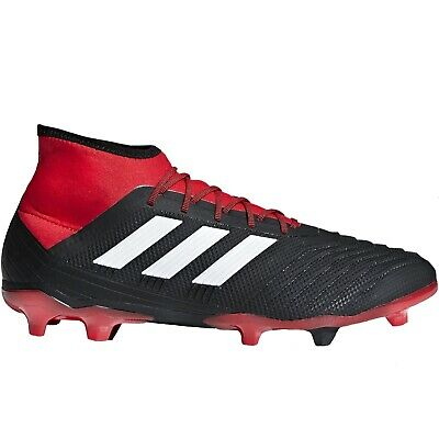 adidas Performance Mens Predator 18.2 Firm Ground Football Boots - Black/Red