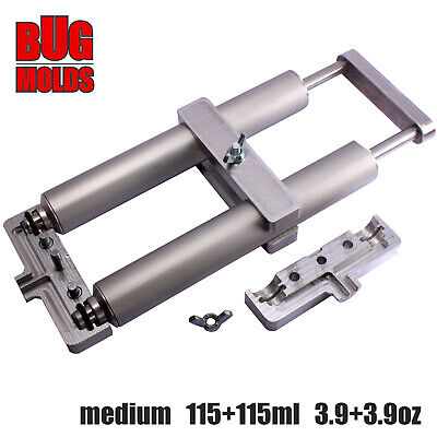 2-color Medium Aluminium Injector Professional Hand Injector 115+115ml 3.9+3.9oz