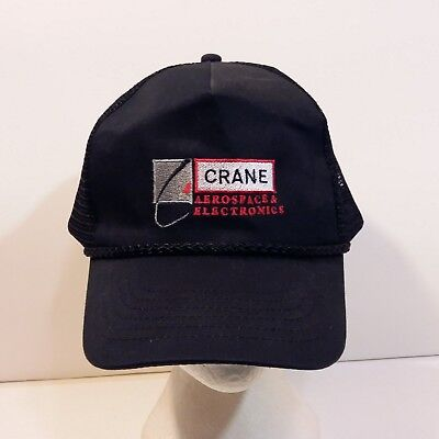 Used, Crane Aerospace & Electronics Baseball Truckers Dad Hat Mesh Cap for sale  Ste Anne