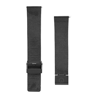 Eldon - Schwarzes Mesh Metall Uhrenarmband - 20mm