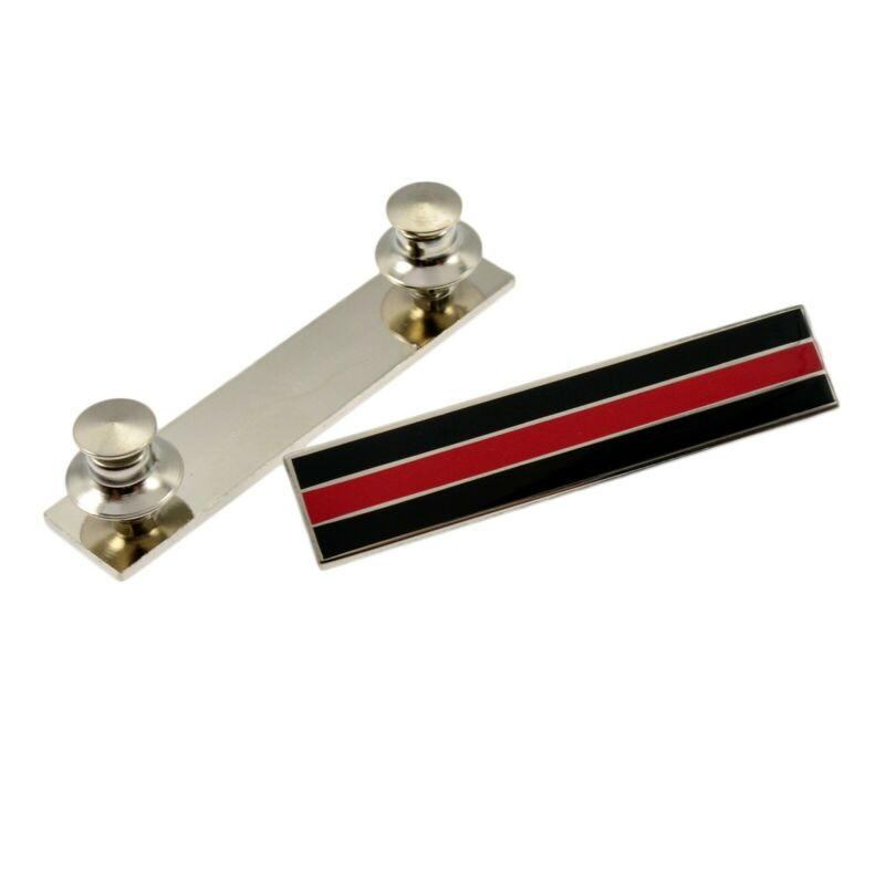 Thin Red Line Firefighter Citation Bar Mourning Merit Award Commendation Silver