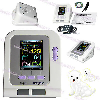 Vet Veterinary Automatic Blood Pressure Monitor Color Lcd Nibp Cuff Usb Software