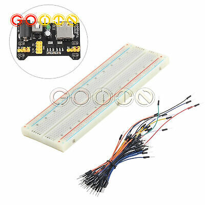 Mb-102 830 Point Solderless Pcb Breadboard Power Supply 65x Jump Cable Wire