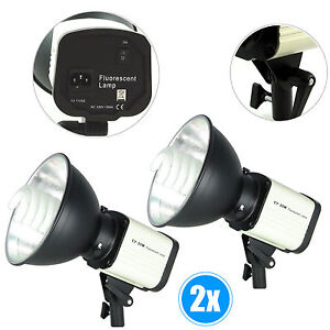 Kit-2x-Illuminatore-Studio-Foto-Video-Lampada-Luce-DayLight-DynaSun-CY25W-150W
