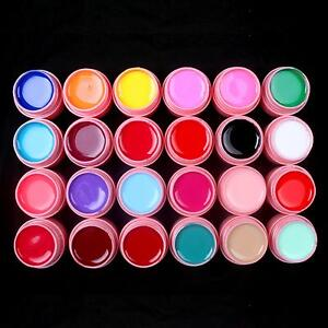 24-Pcs-Color-Mix-Solid-Pure-Nail-Art-UV-Builder-Gel-Set-for-Acrylic-Tips-Pink