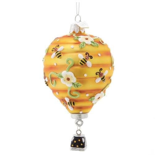 Kurt Adler Noble Honey Bee Hive Hot Air Balloon Christmas Tree Ornament Decor