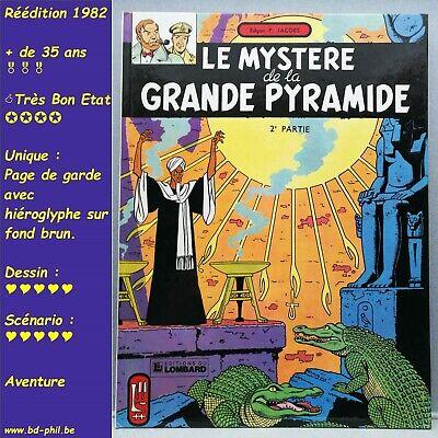Blake et Mortimer, 5, Mystère de la grande pyramyde 2 Jacobs Lombard R 1982 TBE