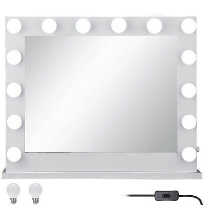 Hollywood Lighted Makeup Vanity Mirror with Lights + 16 LED Dimmable Bulbs UK
