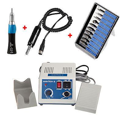 Laboratorio dental Micromotor Motor eléctrico con Straight Handpiece + fresas segunda mano  Embacar hacia Argentina
