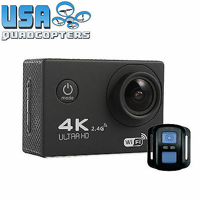Tekcam F60R 4K WiFi Action Camera + Complete Accessory Pack