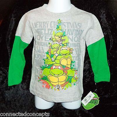 Teenage Mutant Ninja Turtles Christmas Tree Infant/Toddler T-Shirt SIZES 12m-5T (Teenage Mutant Ninja Turtles Toddler Clothes)