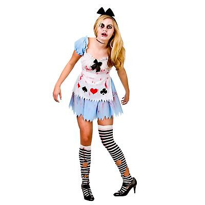 Alice In Zombieland Fairytale Halloween Adults Womens Fancy Dress Costume - Zombieland Costumes Halloween