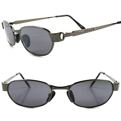 Classic Vintage Retro 80s 90s Urban Fashion Mens Gunmetal Rectangle Sunglasses