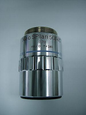 Olympus Microscope Objective Neo Splan 50 Nic 0.70 0 F180 Ic 50