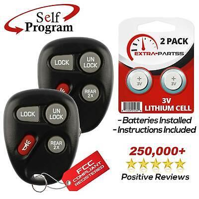 2 For 1999 2000 2001 2002 2003 2004 Chevrolet Tracker Keyless Entry Fob Remote