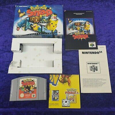 N64 POKEMON SNAP Boxed With Manual PAL UK Version Pokémon