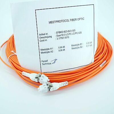 Hitachi LWL LC-LC 25m Duplex OM3 50/125 orange Glasfaser Patchkabel Hitachi 50