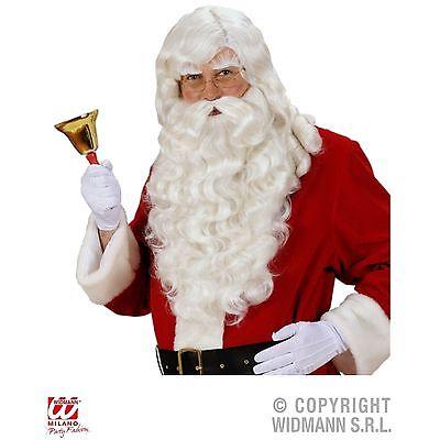 Weihnachtsmann Perücke langer Voll-Bart Haar-Set