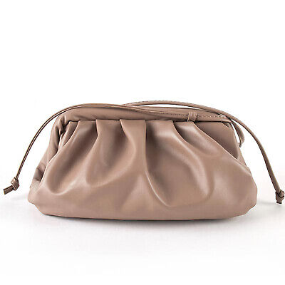 Women Cloud bag Soft Leather Shoulder Crossbody Dumpling Bag Handbag Clutch Lady