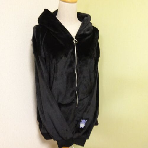 Sanrio license KUROMI Fleece Zip up hoodie Size 4L Black Warm material