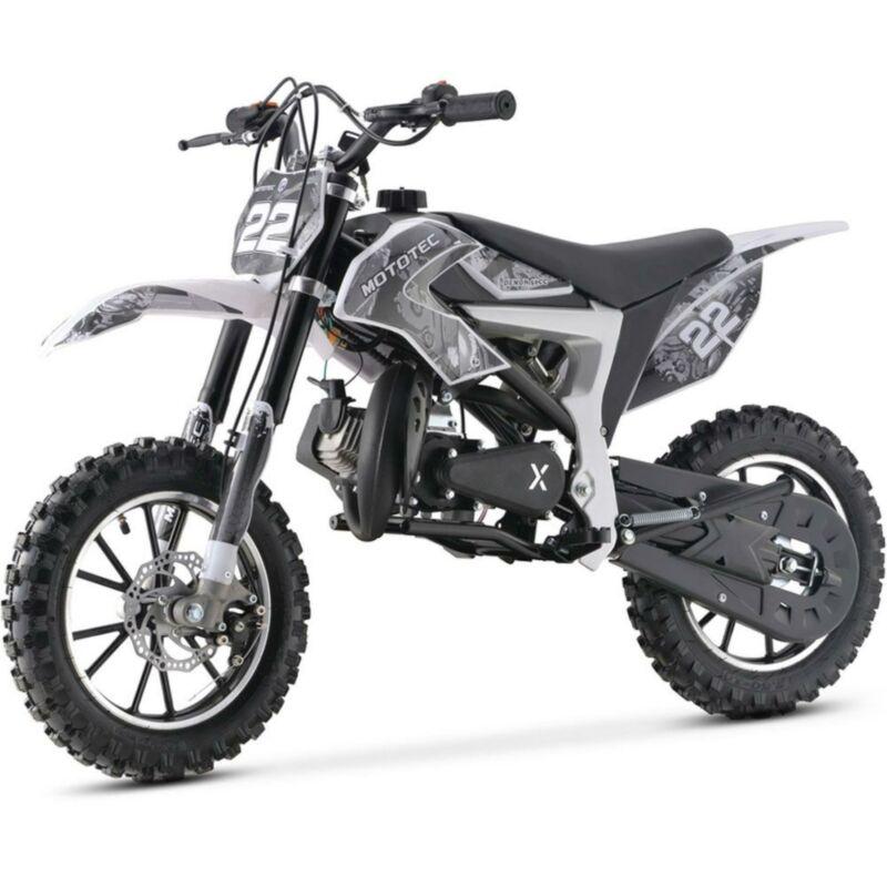 MotoTec Demon Dirt Bike 50cc White
