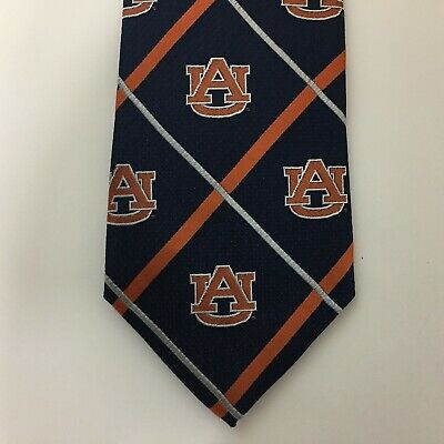Eagles Wings Auburn Tigers Striped Mens Silk Tie Neck Ties Color Navy 7702 NWT Eagles Wings Striped Tie
