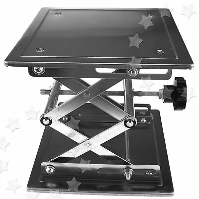 Stainless Steel Stand Table Scissor Lift laboratory Jiffy Jack 200 x 200mm