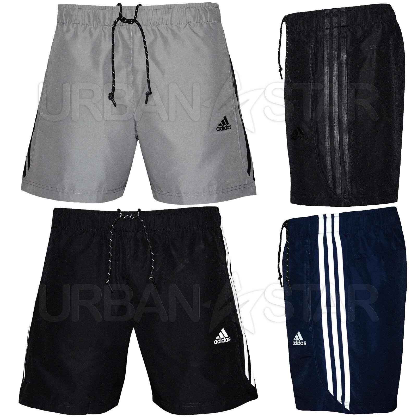 adidas Men/'s Essentials 3-Stripes Chelsea Shorts Black//Black