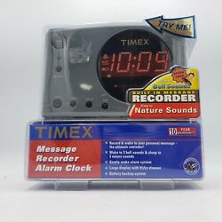 NOS Timex Message Recorder Alarm Clock with Nature Sounds T138B