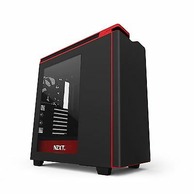 NZXT H440 Black + Red Mid Tower Case CA-H442W-M1