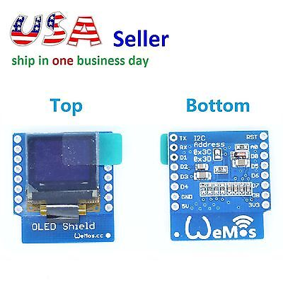 Oled Shield For Wemos D1 Mini Esp8266 0.66 In 64x48 Iic I2c Nodemcu Arduino
