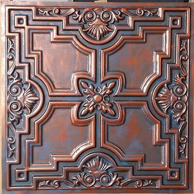 Ceiling tiles Faux tin rust copper decor Barber house wall panel PL16 10pcs/lot
