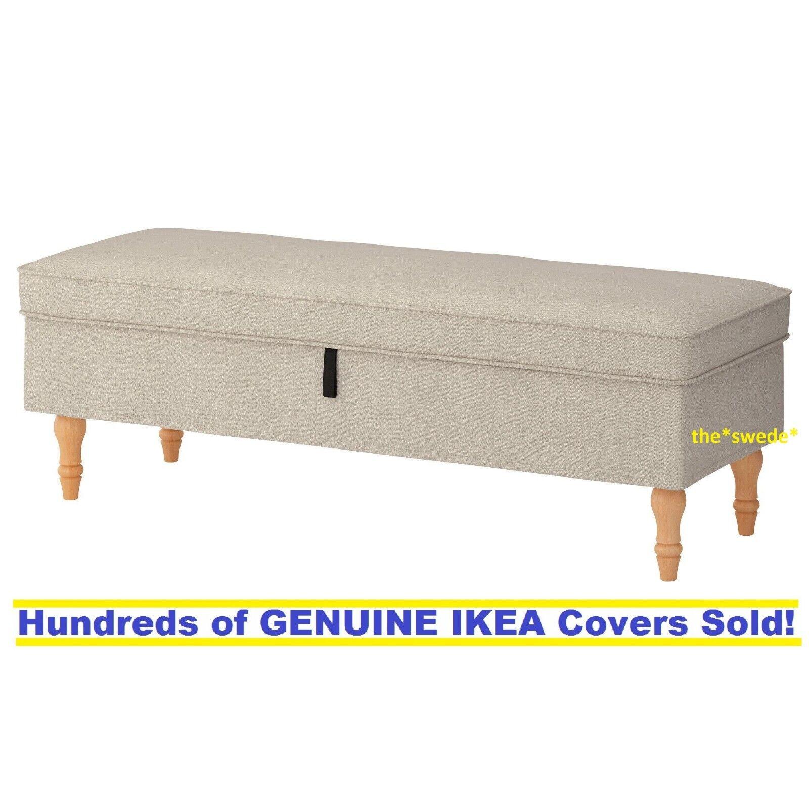 Ikea STOCKSUND Bench  Cover Slipcover NOLHAGA LIGHT BEIGE Ne
